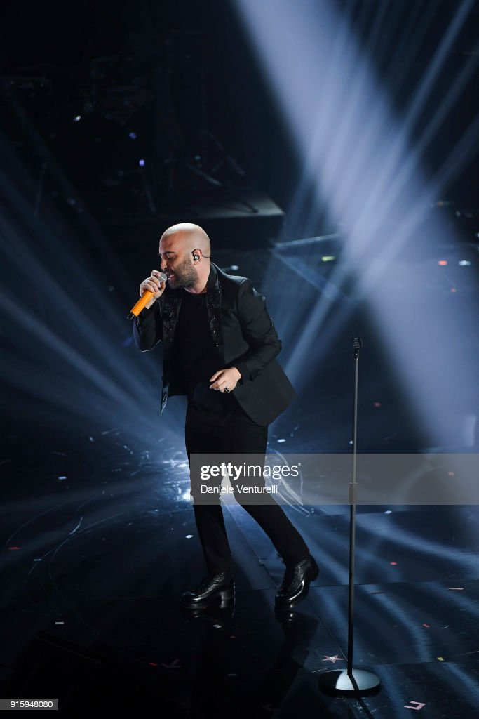 Giuliano Sangiorgi attends the third night of the 68. Sanremo Music Festival on February 8, 2018 in Sanremo, Italy.