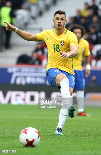 Giuliano Victor de Paula of Brazil during the international friendly match between Japan and Brazil at Stade Pierre Mauroy on November 10 2017 in...