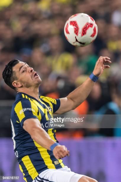 Giuliano Victor de Paula of Fenerbahce SK during the Ziraat Turkish Cup match Fenerbahce AS and Besiktas AS at the Sukru Saracoglu Stadium on April...