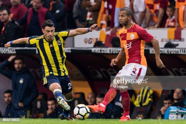 Giuliano Victor de Paula of Fenerbahce SK Mariano Ferreira Filho of Galatasaray SK during the Turkish Spor Toto Super Lig football match between...