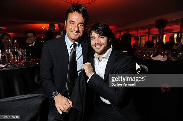Giulio Base and Giulio Berruti attends the 'Telethon Gala 2011' during the 6th International Rome Film Festival at Casina Valadier on October 28 2011...