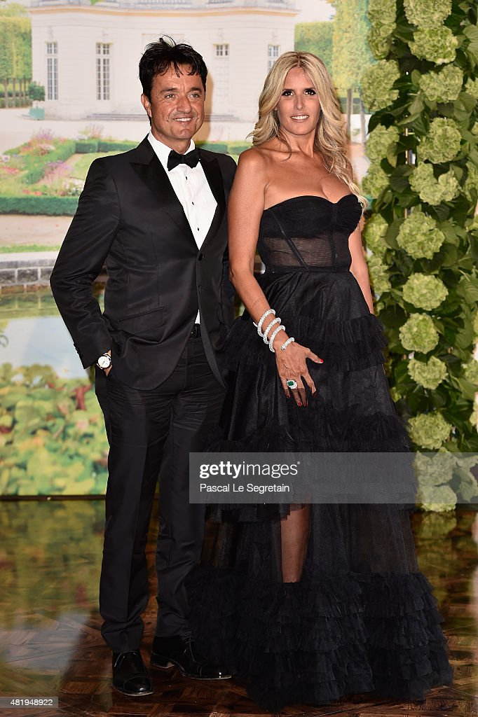 Giulio Base and Tiziana Rocca attend the Monaco Red Cross Gala on July 25, 2015 in Monte-Carlo, Monaco.