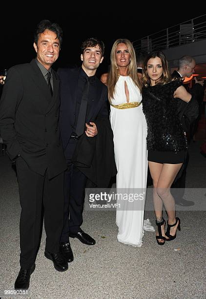 CANNES FRANCE MAY 15 Giulio Base Luca ArgenteroTiziana Rocca and Myriam Catania attend the Vanity Fair and Gucci Party Honoring Martin Scorsese...