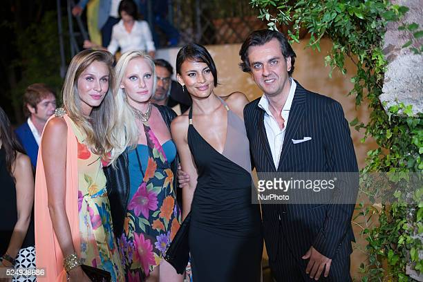Giulio Base, Shalana Santana and guesta attend 61th annual Taormina Film Festival Festival, Taormina Sicily Island, Italy, on June 15, 2015.