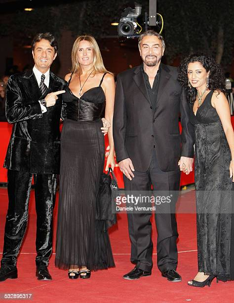 Giulio Base Tiziana Rocca Kabir Bedi and Parveen Dusanj attend the 'Rendition' premiere during Day 4 of the 2nd Rome Film Festival on October 21 2007...