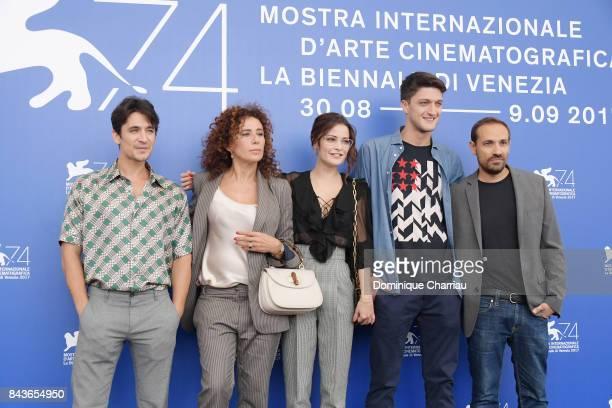Giulio Beranek Francesca Antonelli Giulia Elettra Gorietti Andrea Lattanzi and Dario Albertini attend the 'Manuel' photocall during the 74th Venice...