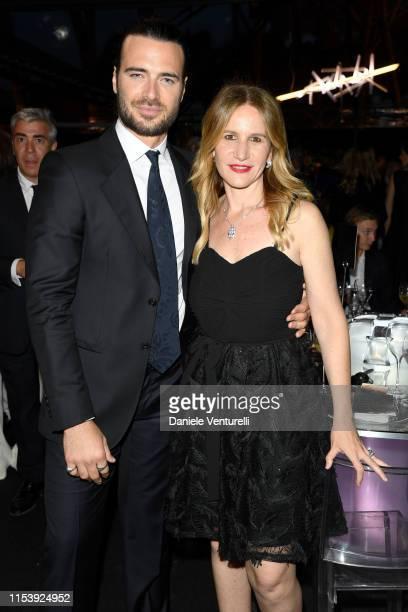 Giulio Berruti and Elisabetta Marra attend the McKim Medal Gala 2019 at Villa Aurelia on June 05 2019 in Rome Italy