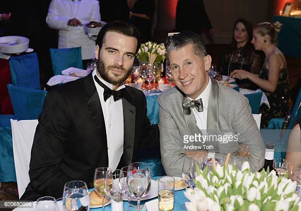 Giulio Berruti and Stefano Tonchi attend the Elton John AIDS Foundation's 15th Annual An Enduring Vison Benefit At Cipriani Wall Street at Cipriani...