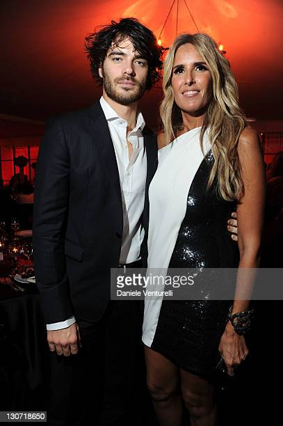Giulio Berruti and Tiziana Rocca attend the 'Telethon Gala 2011' during the 6th International Rome Film Festival at Casina Valadier on October 28...