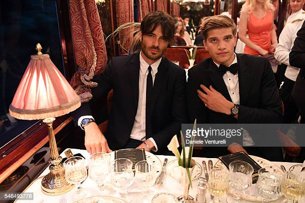 Giulio Berruti and Toby Huntington Whiteley attend Bvlgari Le Gemme Men's Collection on July 11 2016 in Prague Czech Republic