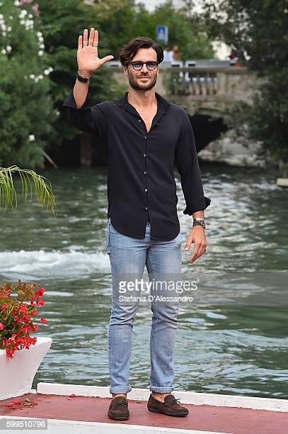 Giulio Berruti arrives at the Lido during the 73rd Venice Film Festivalon September 5 2016 in Venice Italy