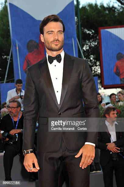 Giulio Berruti attends a premiere for 'Piuma' during the 73rd Venice Film Festival at Sala Perla on September 5 2016 in Venice Italy
