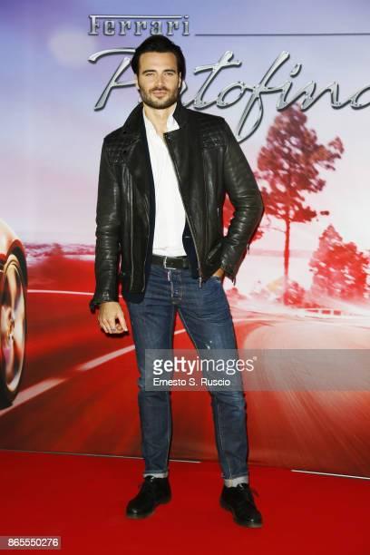 Giulio Berruti attends the Ferrari Portofino premiere at Roma Convention Center La Nuvola on October 23 2017 in Rome Italy