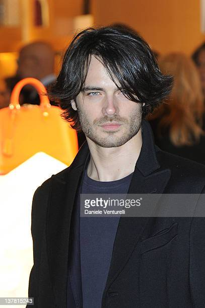Giulio Berruti attends the 'Maison Louis Vuitton Roma Etoile' Cocktail on January 27 2012 in Rome Italy