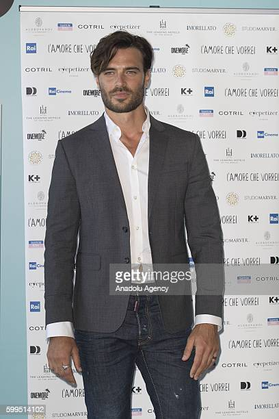 Giulio Berruti attends the photocall of the short film L'amore che vorrei producted by Foundation Doppia Difesa during 73rd Venice Film Festival at...
