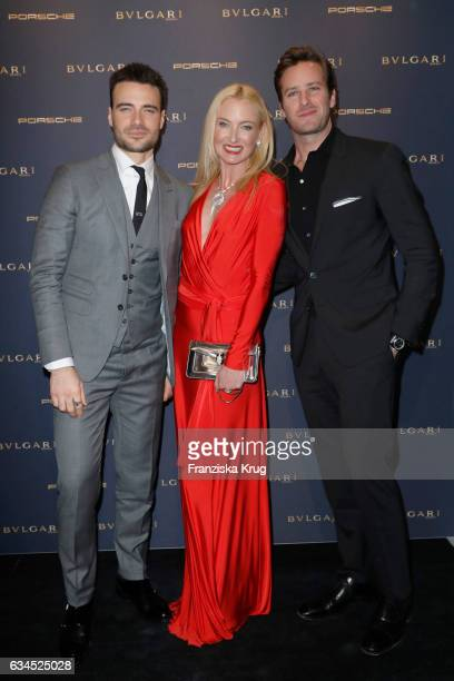 Giulio Berrutti Armie Hammer and Lilly SaynWittgensteinBerleburg attend the Bulgari 'Night of the Legend' event during the 67th Berlinale...