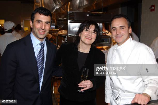 Giulio Capua Ruth Reichl and JeanGeorges Vongerichten attend Gourmet Magazine's celebration release of March 2004 New York Issue with the world's...