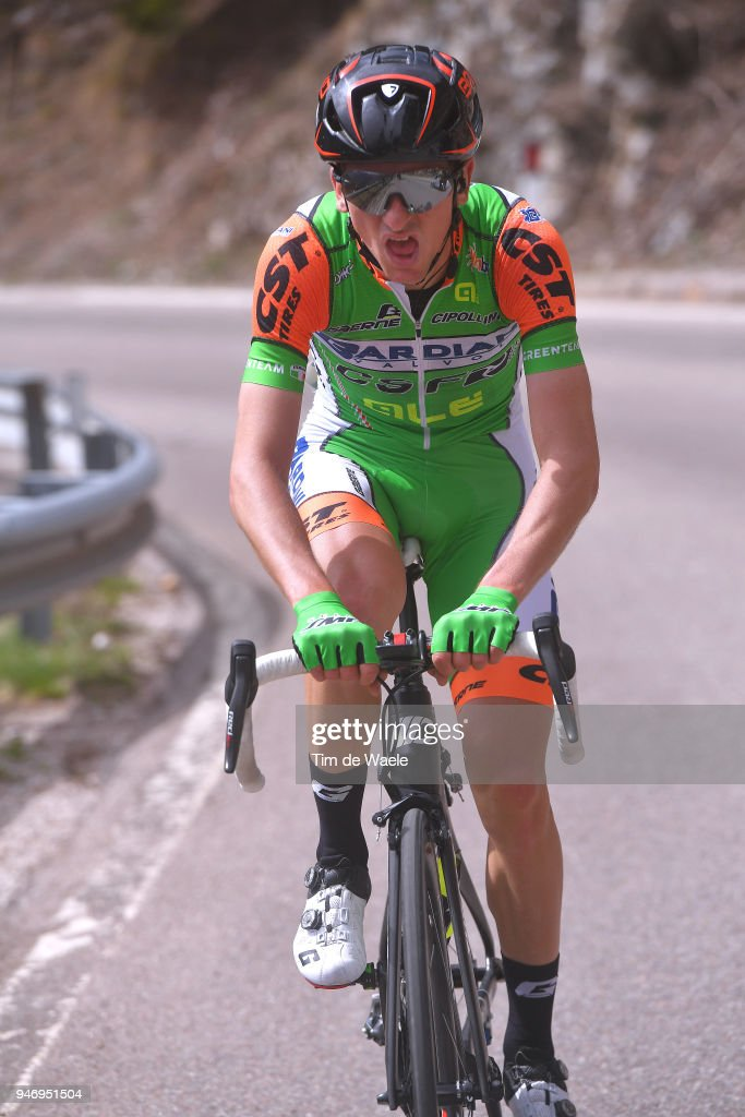 Giulio Ciccone of Italy and Team Bardiani - CSF / during the 42nd Tour of the Alps 2018, Stage 1 a 134,6km stage from Arco to Folgaria 1160m on April 16, 2018 in Folgaria, Italy.