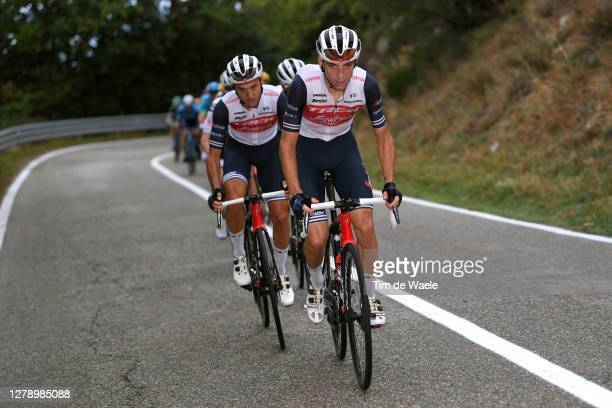 Giulio Ciccone of Italy and Team Trek - Segafredo / Gianluca Brambilla of Italy and Team Trek - Segafredo / during the 103rd Giro d'Italia 2020,...