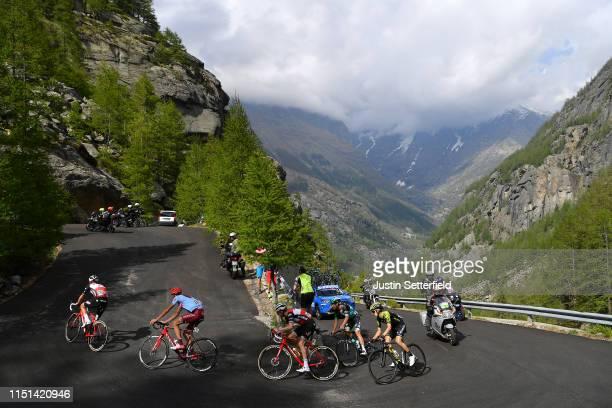 Giulio Ciccone of Italy and Team Trek - Segafredo / Ilnur Zakarin of Russia and Team Katusha Alpecin / Bauke Mollema of The Netherlands and Team Trek...