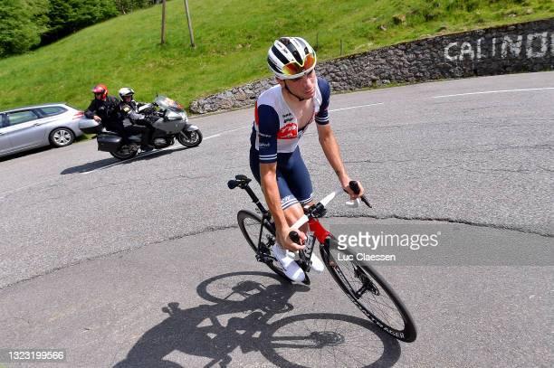 Giulio Ciccone of Italy and Team Trek - Segafredo in breakaway during the 45th La Route d'Occitanie - La Depeche Du Midi 2021, Stage 3 a 191,8km...