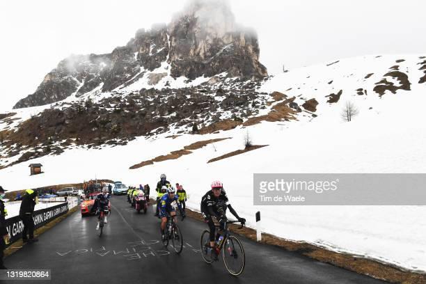 Giulio Ciccone of Italy and Team Trek - Segafredo, Joao Almeida of Portugal and Team Deceuninck - Quick-Step & Hugh Carthy of United Kingdom and Team...