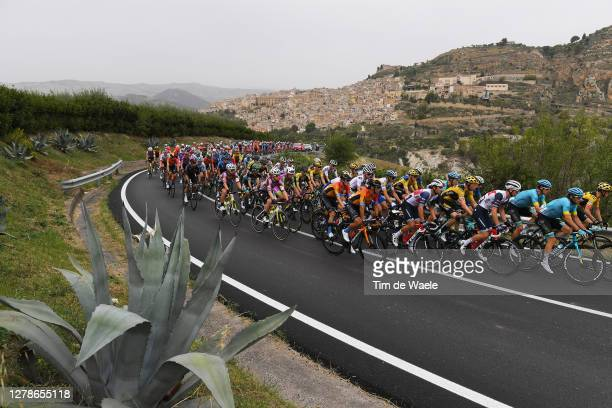 Giulio Ciccone of Italy and Team Trek Segafredo / Manuele Boaro of Italy and Astana Pro Team / Jakob Fuglsang of Denmark and Astana Pro Team / Yukiya...