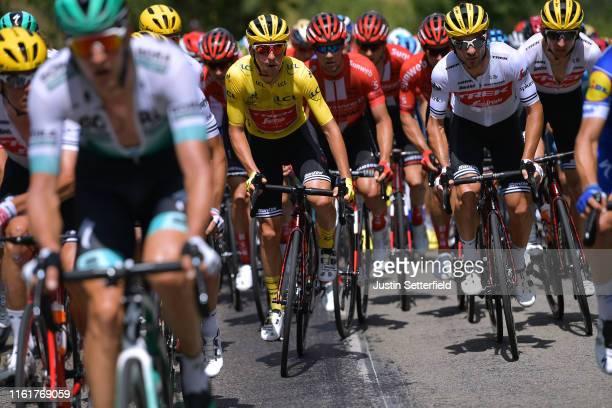 Giulio Ciccone of Italy and Team Trek-Segafredo Yellow Leader Jersey / Fabio Felline of Italy and Team Trek-Segafredo / during the 106th Tour de...
