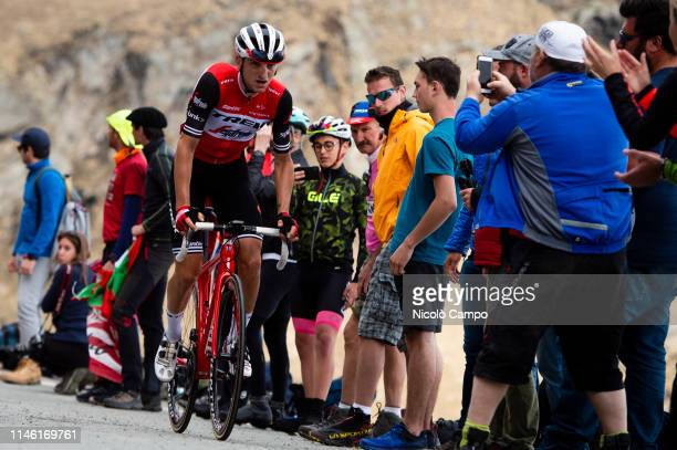 Giulio Ciccone of Team Trek - Segafredo rides during the stage thirteen of the 102nd Giro d'Italia - Tour of Italy - cycle race, 196kms from Pinerolo...