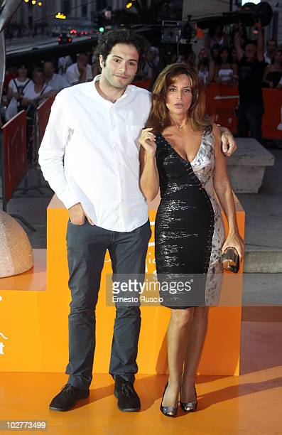 "Giulio Forbes and Giuliana De Sio attend day five of the ""Il Peccato E La Vergogna"" premiere at Adriano cinema at the Roma Fiction Fest on July 9,..."