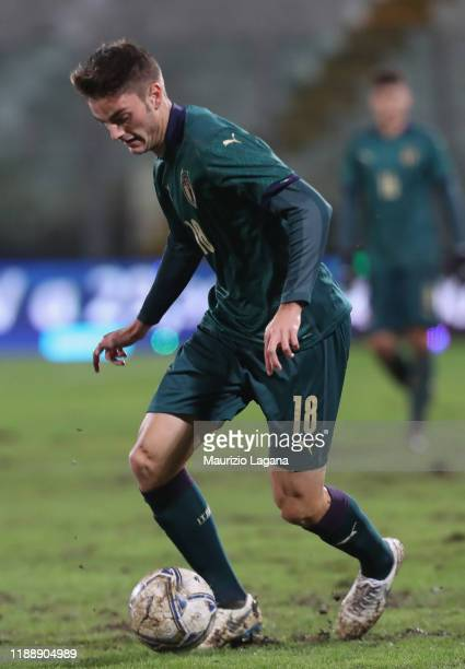 Giulio Maggiore of Italy during the UEFA U21 European Championship Qualifier match between Italy and Armenia at Stadio Angelo Massimino on November...