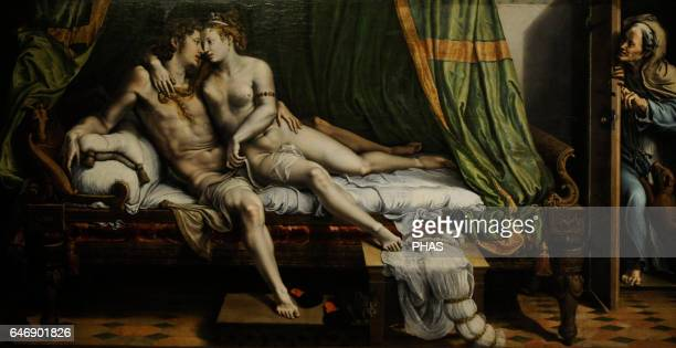 Giulio Romano Italian painter and architect Roman school Love Scene 15241525 Oil on canvas The State Hermitage Museum Saint Petersburg Russia