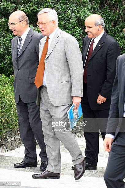 Giulio Tremonti is seen on June 12 2010 in Portofino Italy