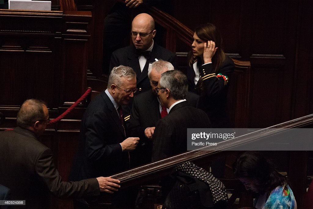 MONTECITORIO, ROME, ROME, ITALY - : Giulio Tremonti. Vote in joint session for the election of the President of the Italian Republic.