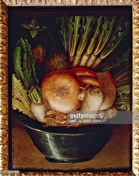 Giuseppe Arcimboldo Vegetables in a Bowl or The Gardener