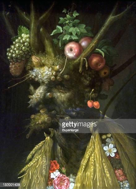 Giuseppe Arcimboldo's 'The Four Seasons in One Head' 1590