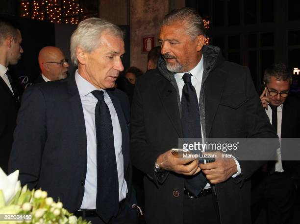 Giuseppe Baresi and Alessandro Altobelli attend FC Internazionale Christmas Party on December 18 2017 in Milan Italy