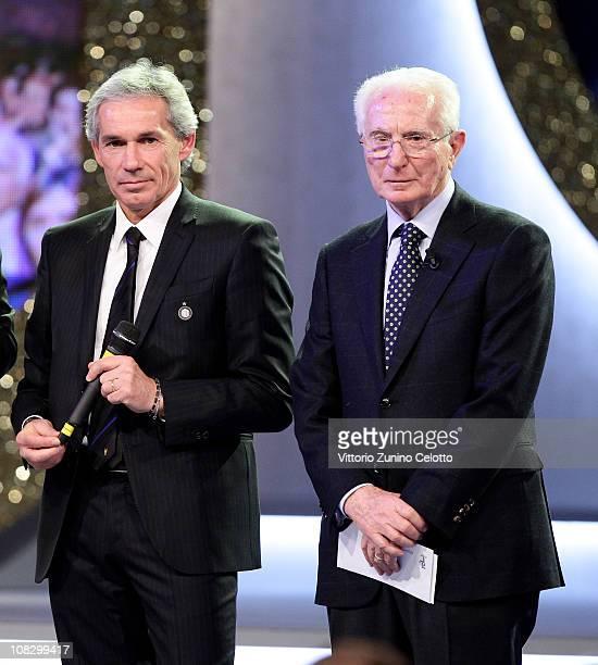 "Giuseppe Baresi and Azeglio Vicini attend the ""Oscar Del Calcio AIC 2010"" Italian Football Awards on January 24, 2011 in Milan, Italy. Oscar del..."