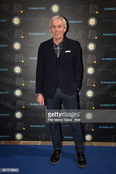 Giuseppe Baresi attends the unveiling of FC Internazionale 'Innovative Passion' Concept At Milan Design Week on April 16 2018 in Milan Italy