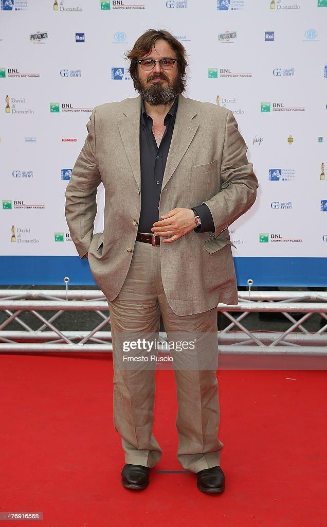 Giuseppe Battiston attends the '2015 David Di Donatello' Awards Ceremony at Teatro Olimpico on June 12, 2015 in Rome, Italy.