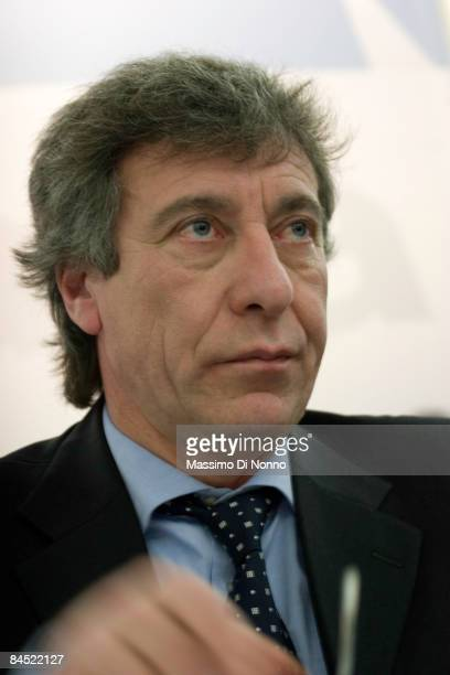 Giuseppe Bonomi president of SEA Holding attends a press conference introducing two new planes at Milan Malpensa International airport January 28,...