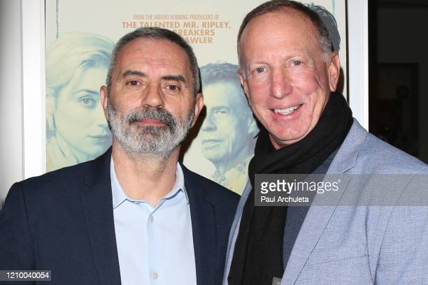 """Giuseppe Capotondi, and David Lancaster attend the LA special screening of Sony's """"The Burnt Orange Heresy"""" at Linwood Dunn Theater on March 02, 2020..."""