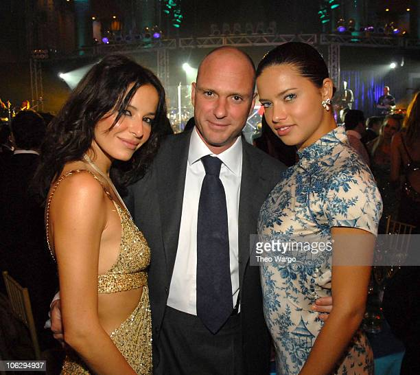 Giuseppe Cipriani and Adriana Lima during Earth Wind and Fire perform at 2006 Cipriani/Deutsche Bank Concert Series at Cipriani Wall Street in New...