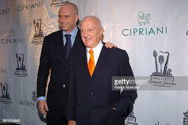 Giuseppe Cipriani and Arrigo Cipriani attend de Grisogono Sponsors The 2005 Wall Street Concert Series Benefiting Wall Street Rising with a...