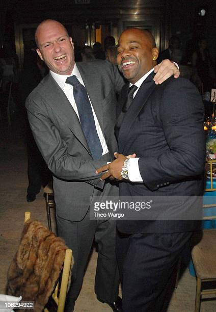 Giuseppe Cipriani and Damon Dash during Earth Wind and Fire perform at 2006 Cipriani/Deutsche Bank Concert Series at Cipriani Wall Street in New York...