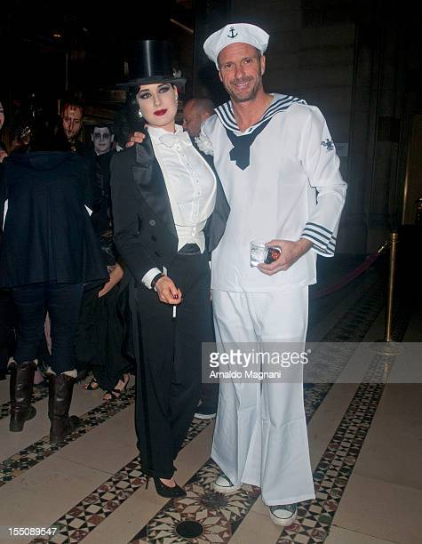 Giuseppe Cipriani and Dita Von Teese sighting at a Halloween Party at Cipriani 42nd Street on October 31 2012 in New York City