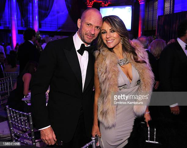 Giuseppe Cipriani and Elizabeth Hurley attend the amfAR New York Gala To Kick Off Fall 2012 Fashion Week Presented By Hublot at Cipriani Wall Street...