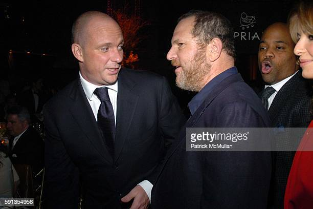 Giuseppe Cipriani and Harvey Weinstein attend de Grisogono Sponsors The 2005 Wall Street Concert Series Benefitting Wall Street Rising with a...