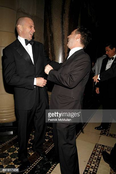 Giuseppe Cipriani and Jason Binn attend The 2005 Princess Grace Awards Gala at Cipriani 42nd Street on October 26 2005 in New York City