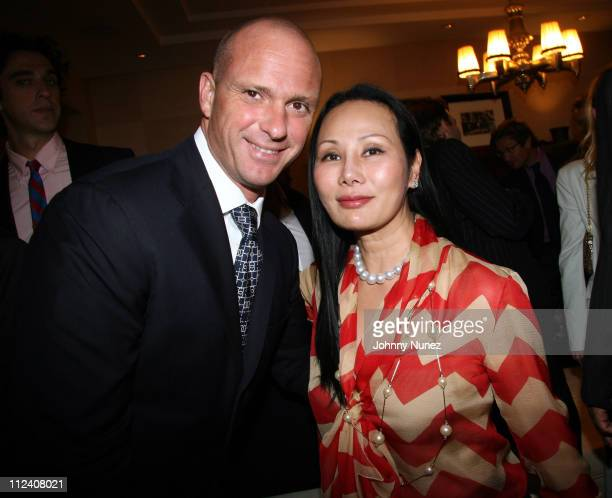 Giuseppe Cipriani and Ms Chow during The Ethnic Foundation Honoring Hosted By Russell Simmons April 25 2006 at Private Home of Antonio LA Reid in New...